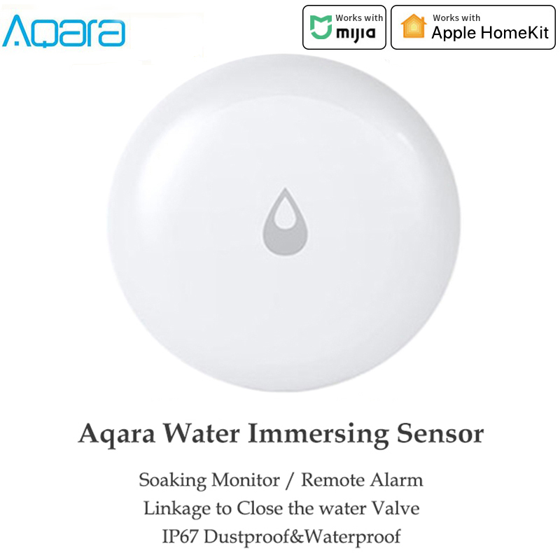 Aqara IP67 Water Immersion Sensor Flood Water Leak Detector For Home Remote Alarm Security Soaking Sensor By MiHome Apple Homeki