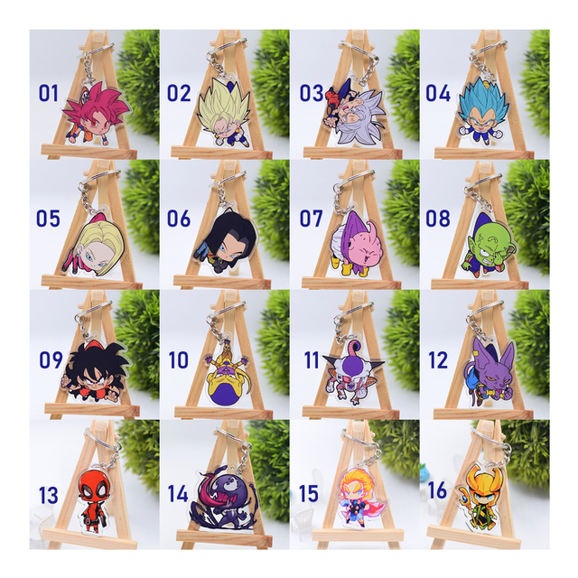 Hot Sales  Anime Key Chain Chibi Keyring  1 Pcs High Quality Cartoon Keychain Accessories Charms Acrylic Pendant Part One 4