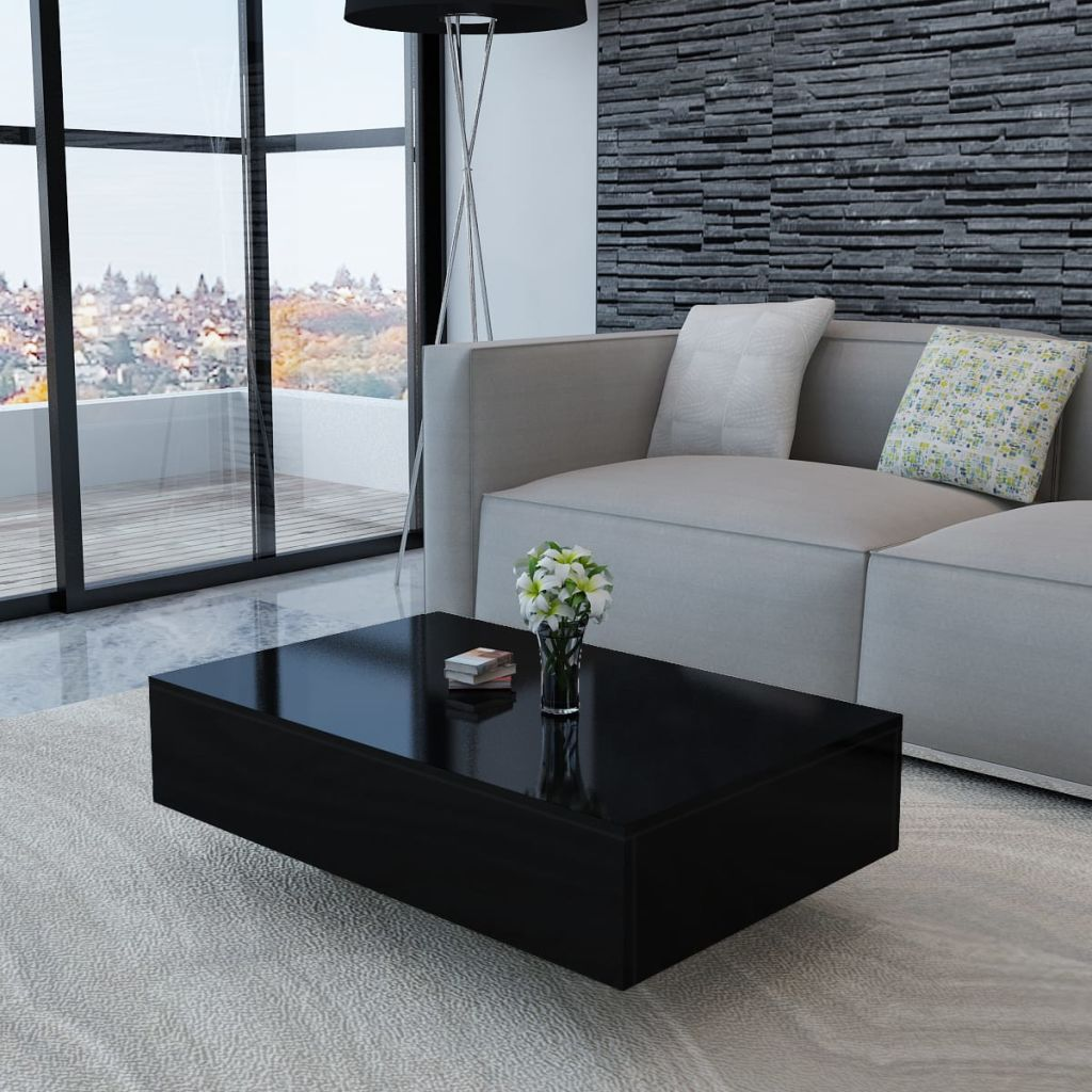 VidaXL Coffee Table High Gloss Black
