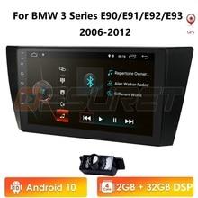 車マルチメディアプレーヤーアンドロイド 9.0 GPS ステレオシステム Bmw E90 E91 E92 E93 4 3gwifi FM Am ラジオ automotivo canbus 1024*600 カムイン