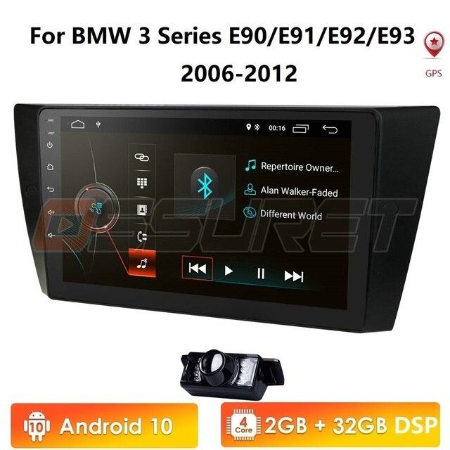 자동차 멀티미디어 플레이어 안 드 로이드 9.0 gps 스테레오 시스템 bmw e90 e91 e92 e93 4 gwifi fm am 라디오 automotivo canbus 1024*600 cam in