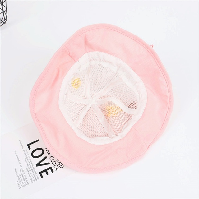Children's Protective Hat Exquisite Handmade Straw Sun Hat Anti-fog Anti-saliva Korean Fisherman Hat (removable Face Mask) 3
