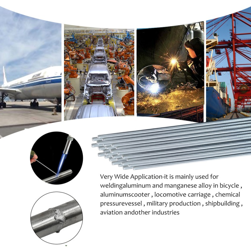 20Pcs 50cm Low Temperature Aluminum Welding Rods Welding Wire Flux Cored Soldering Rod No Need Solder Powder