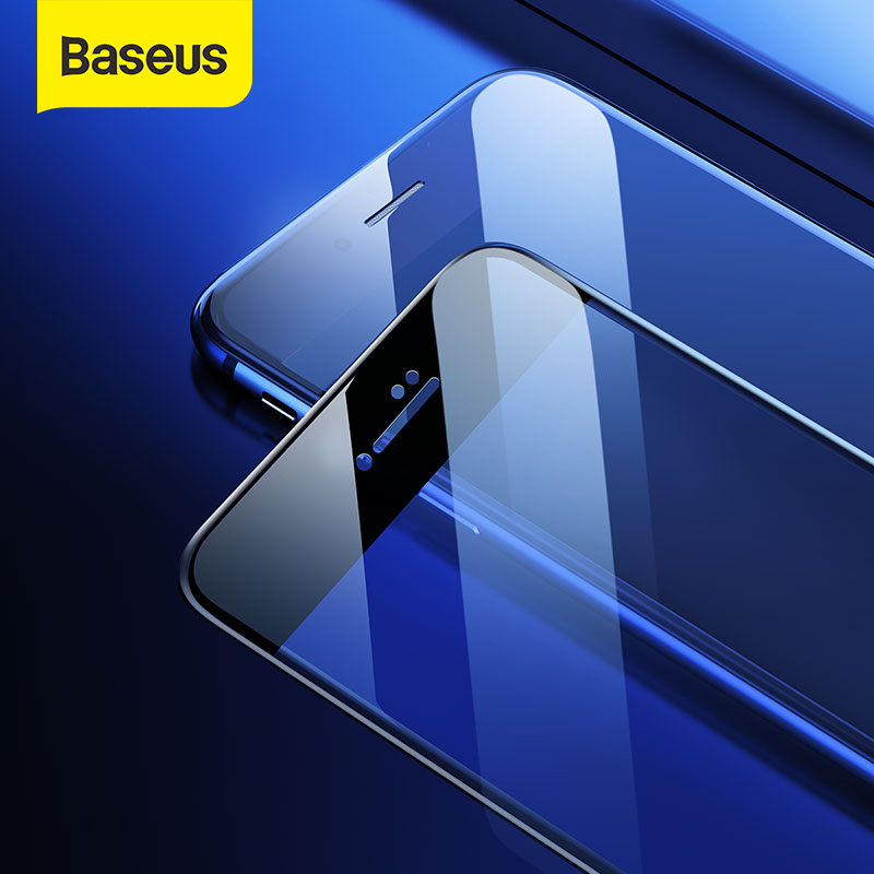 Baseus 2pcs Protective Glass For iPhone 7 8 Plus Full-screen Screen Protector Anti-bluelight