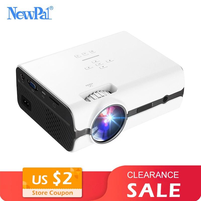 Mini projecteur 3D projecteur maison vidéo Mini 1080p LED Home Cinema Beamer (prise en charge DLNA, carte SD, HDMI, VGA) avec Tuner TV U45