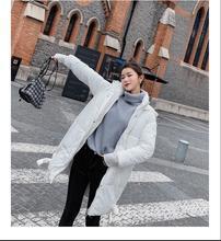 2019 hiver femme โหมด chaud vêtements fermeture éclair manches จักรกล chapeau ยาว hiver veste femmes coton rembourré chaud épa