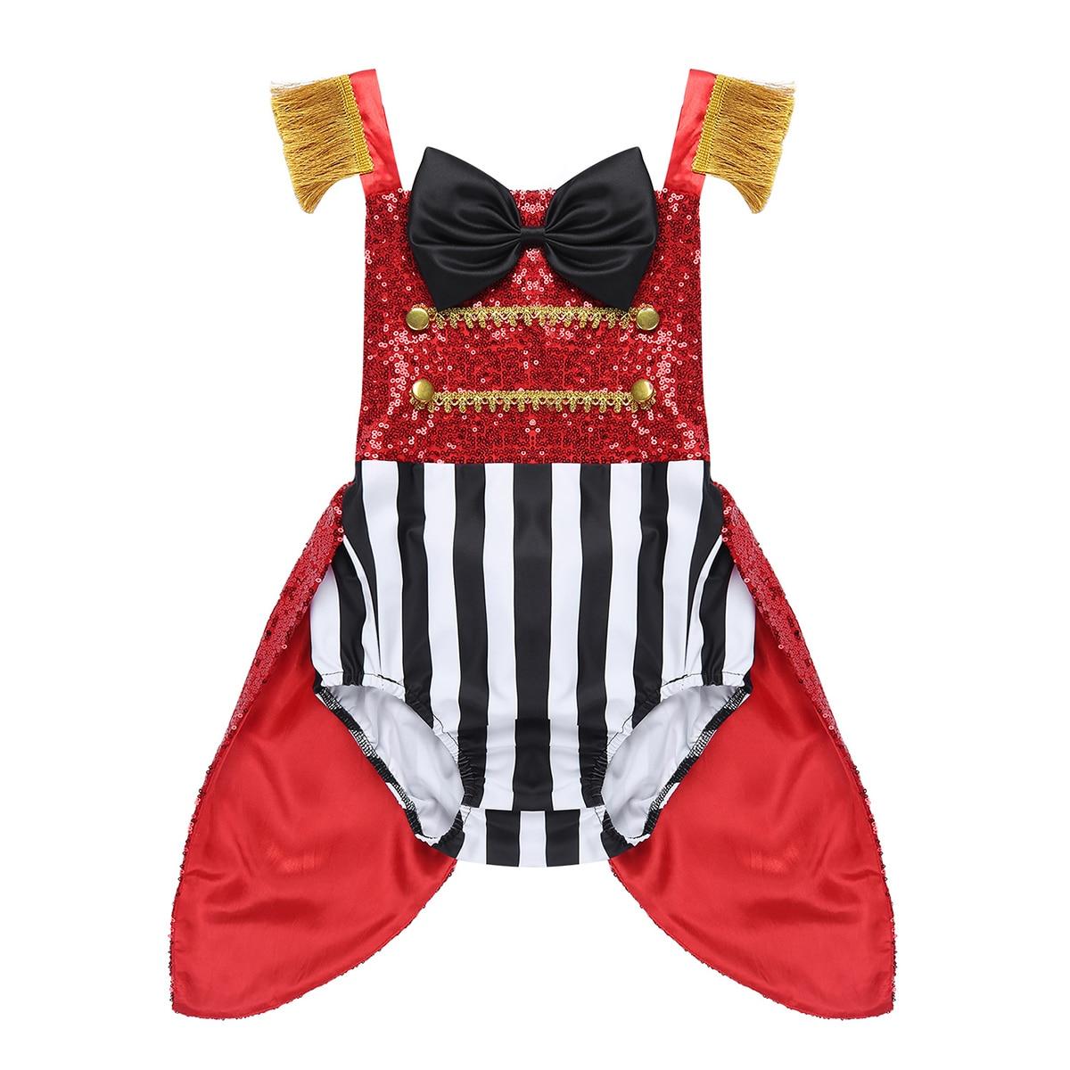 Женский комбинезон в полоску с блестками и бантом, вечерние костюмы для косплея на Хэллоуин