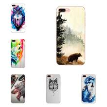 For Huawei Honor 10 10i 20 20i 8S lite Y9 Prime Y7 2019 Y5 2018 p40 lite pro Soft Protective Case Watercolor Wolf Animal(China)