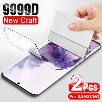 Перейти на Алиэкспресс и купить 9999D Гидрогелевая пленка для защиты экрана для Samsung Galaxy S20 Ultra S10 Plus S10e S9 для Note 9 10 Lite защитная пленка не стекло