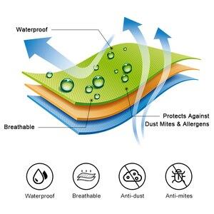 Image 3 - Mecerock capa protetora para colchão, cobertura de folha de cor sólida, acolchoada, à prova dágua, grossa, para colchão, macia