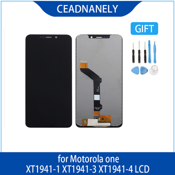 Original For Motorola Moto One P30 Play Display Assemble XT1941-1 XT1941-3 XT1941-4 LCD Display Touch Screen With Frame image