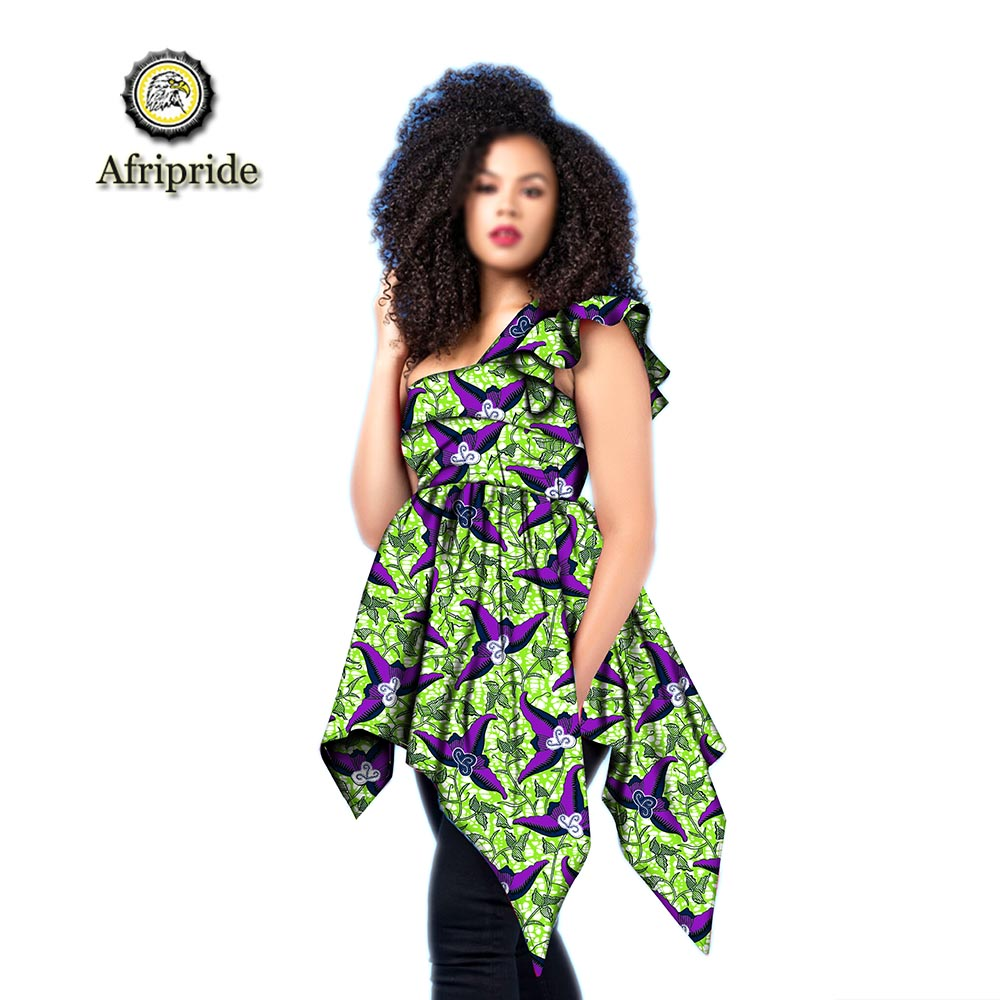 2019 african fashion clothes for lady dashiki print sleeveless slash neck long coats sexy spring amp summer AFRIPRIDE S1924005 in Jackets from Women 39 s Clothing