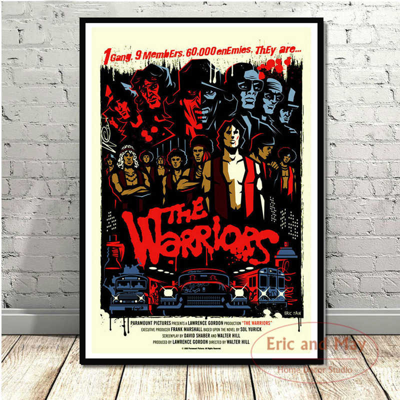 THE WARRIORS Movie Classic Movie Art Poster Canvas Painting Wall Picture Home Decor Posters and Prints