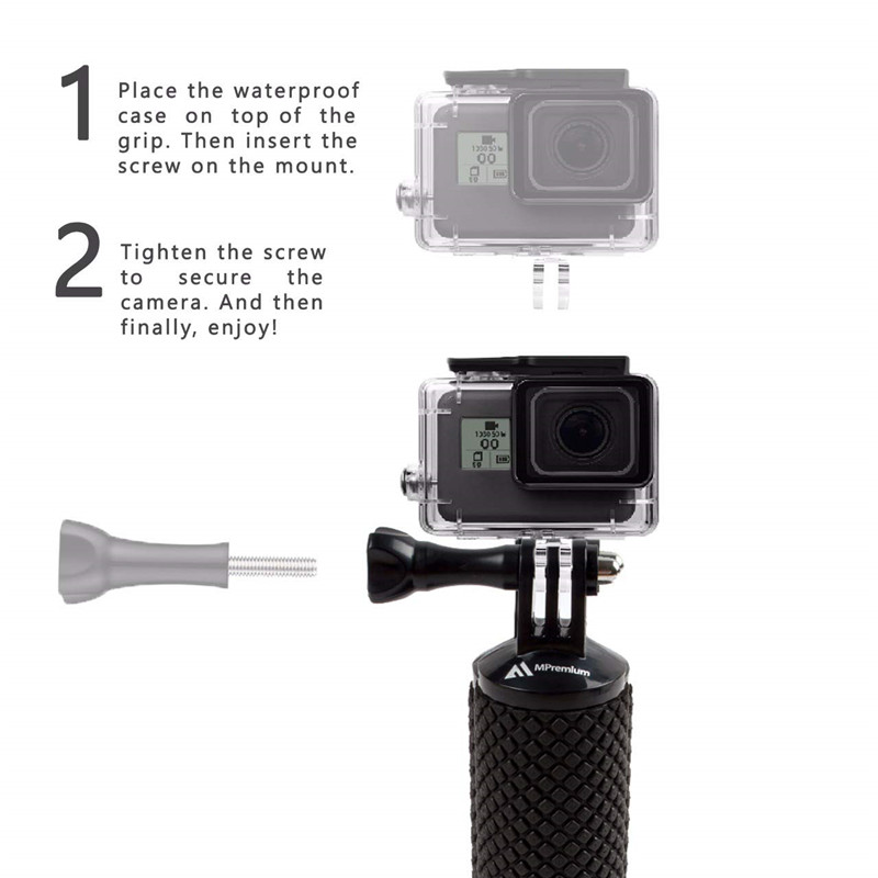 Waterproof Floating Hand Grip For Gopro Hero 8 7 6 5 Xiaomi Action Camera Kit with wrist strap Carabiner For Water Sport Camera-3