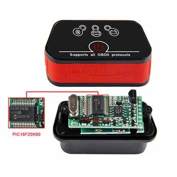ELM327 OBD2 Car Scanner KONNWEI Bluetooth-compatible elm327 pic18f25k80 V1.5 Car Diagnostic Tools Obd 2 Auto Scanner 2