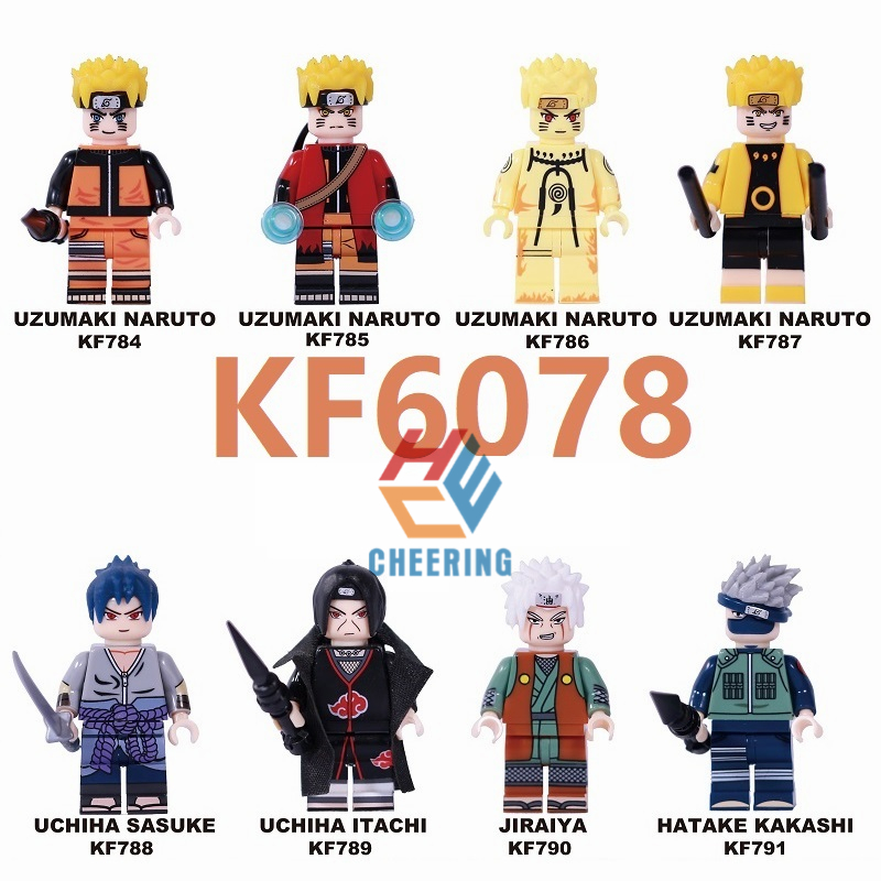 Building Blocks Uzumaki Naruto Uchiha Sasuke Single Sale  Itachi Jiraiya Hatake Kakashi Figures Toys For Children KF6078