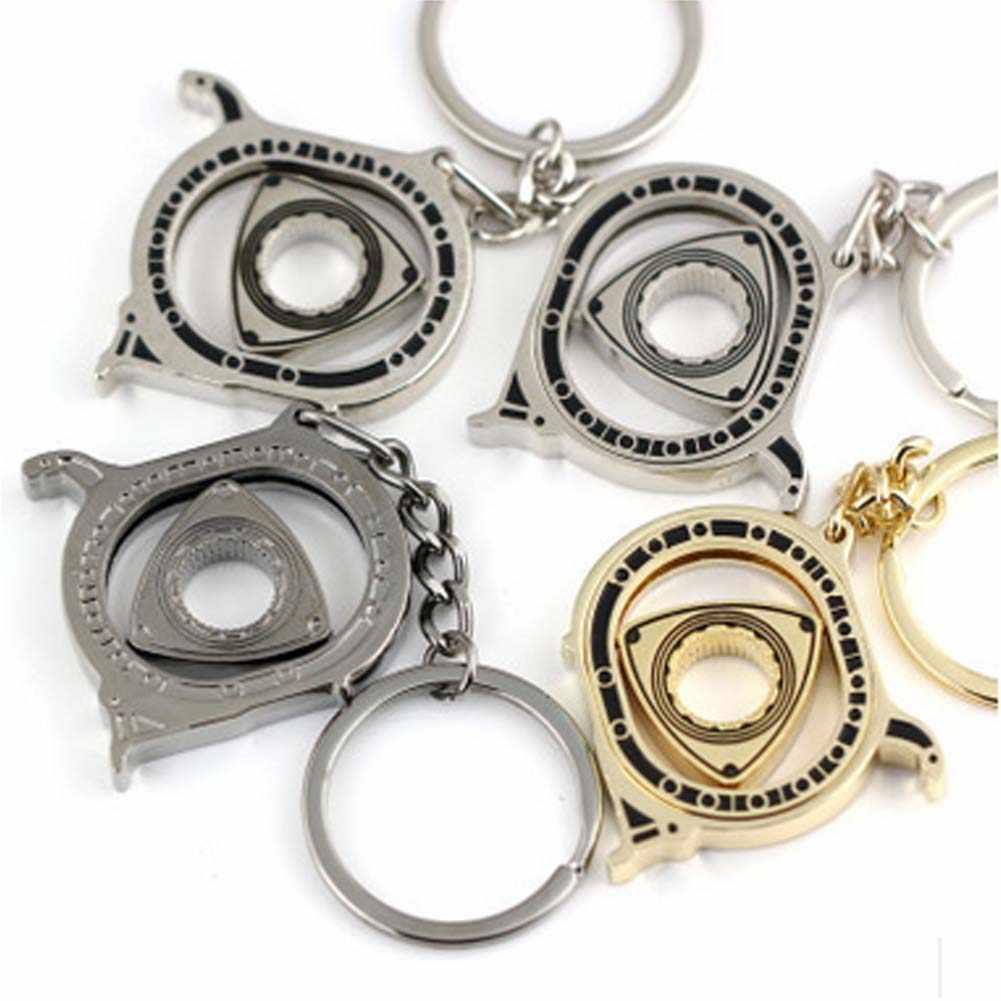 LLavero de Rotor giratorio, llavero giratorio, piezas de automóvil favoritas, llaveros, llavero