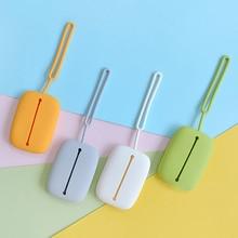 Smart Keychain Holder Organizer Credit Card Holder Mini Card Key Case ID Card Holders Multifunctional Silica Gel Cute Long Bag