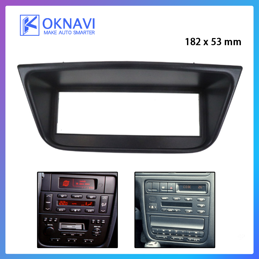 OKNAVI for Peugeot 406 1995-2005 Car Radio Fascia Panel Dash CD Audio Adapter DVD Face Frame Bezel Plate 1 Din Car Accessories image