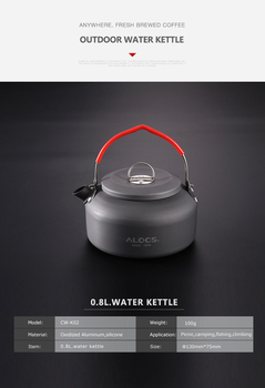 Outdoor Water Kettle Teapot Coffee Pot 0.8L  Aluminum For Picnic Camping Hiking Travel portable 0 8l outdoor hiking camping water kettles teapot coffee pot travel houseused hot water kettle