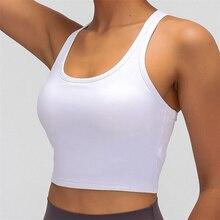 Women Padded Sports Bra Buttery Soft Racerback Crop Tank Top Medium Support for Workout Fitness Running Yoga