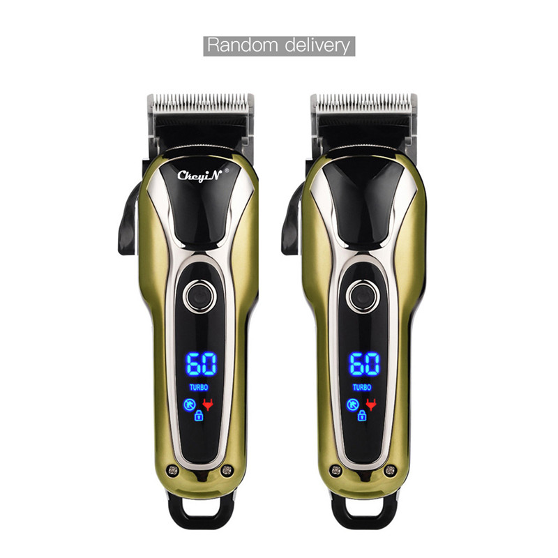 Professional Barber Hair Clipper Rechargeable Electric T-Outliner Finish Cutting Machine Beard Trimmer Shaver Cordless Corded 3