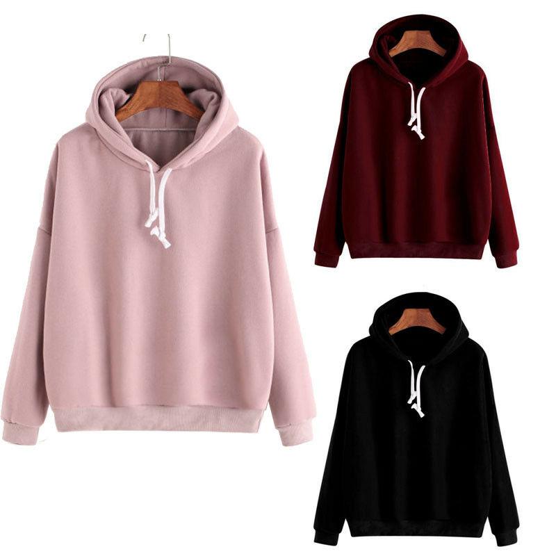 Fashion Men Women Winter Solid Black Sport Long Sleeve  Plain Pullover Hoodie Hooded  Work Hip-hop Jumper Sweatshirt 3 Colors