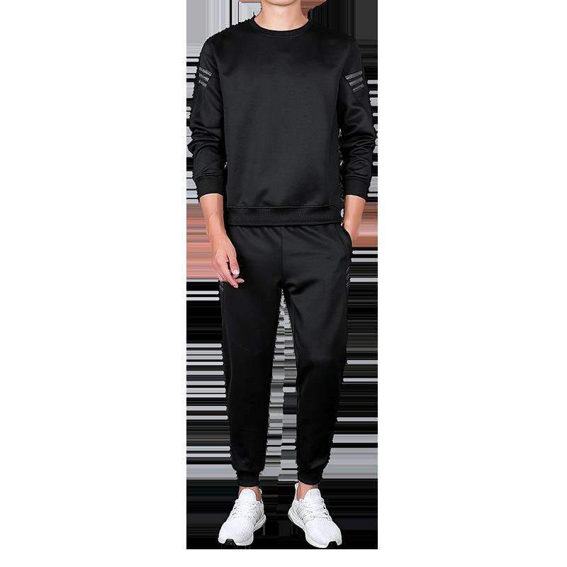 AIOPESON 2019 Autumn Tracksuit Men Fashion Casual Sportswear Slim Fit O-Neck Hoodies + Jogger Pants Men Sweat Suits 23