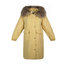 Winter 2019 New Casual Parka Tops Women Sustans Fur Hooded A Line Thick Full Sleeve Zipper Solid X Long fashion Coat Plus Size