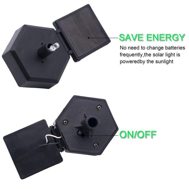 Фото светодиодный светильник на солнечных батареях садовый s наружный цена