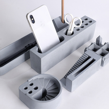 Multi-function Pen Container Holder Concrete Molds Penholder Plaster Silicone