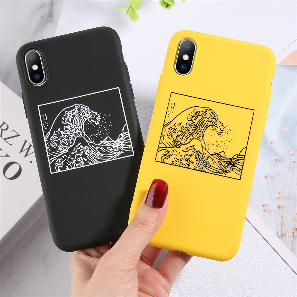 H95b6c90db0b04fb8ad93995708c52040B - Lovebay Silicone Phone Cases For iPhone 7 XR 11 Pro Avocado Waves Cactus For iPhone 5SE 6 6s 8 Plus X XS Max Soft TPU Back Cover