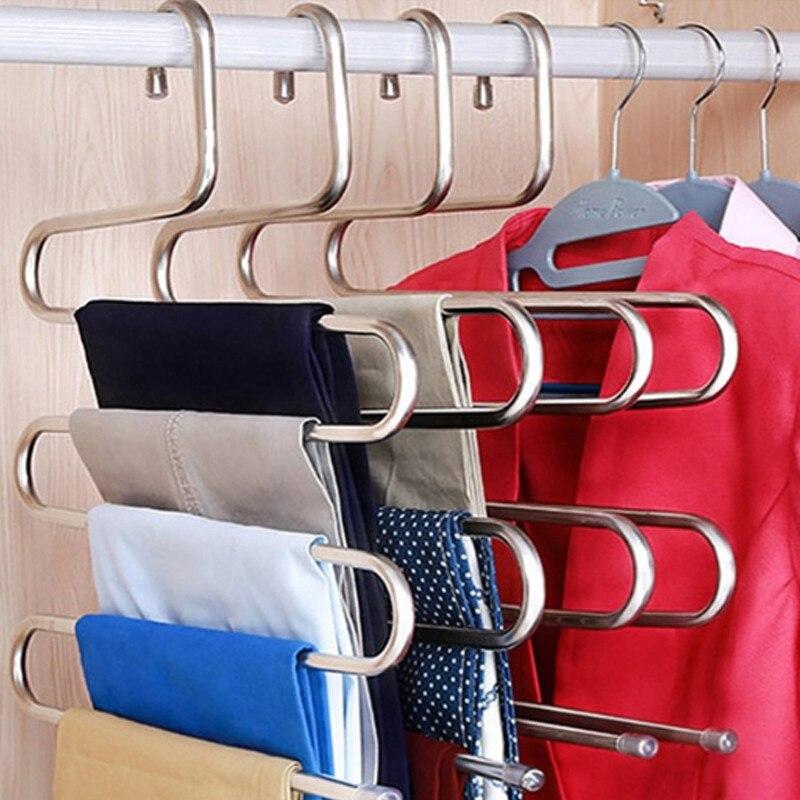 Вешалка для одежды, органайзер для одежды, 1 шт., многослойная вешалка для одежды, Perchas Para La Ropa - Цвет: 20 black