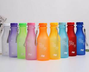 Water-Bottle Unbreakable Plastic Bpa-Free Leak-Proof 50pcs 550ml Frosted Candy-Colors