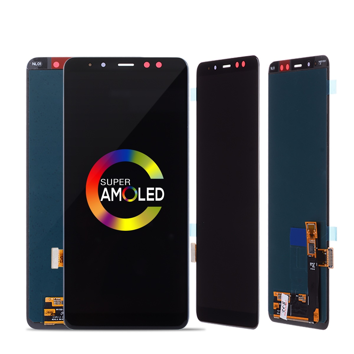 Oringinal 100% Super amoled LCD <font><b>Screen</b></font> for <font><b>SAMSUNG</b></font> Galaxy <font><b>A8</b></font> 2018 LCD <font><b>A8</b></font> 2018 LCD A530 <font><b>Display</b></font> Touch Digitizer Replacement image