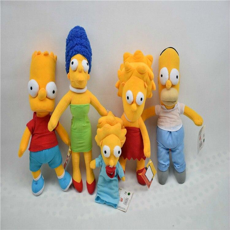 Cartoon Simpsons Plush Stuffed Toys Simpsons Family Soft Stuffed Doll Cute Kawaii Gift For Child Fan Movie Anime Figure