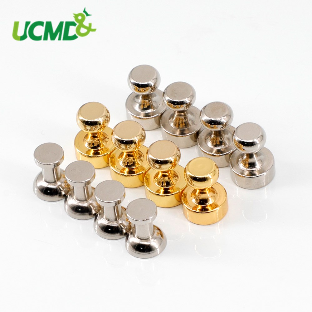 10pcs Metal Magnetic Thumbtack Magnet Push Pin Office Notice Board Pin Fridge Whiteboard Pinboard Decoration Stationery Supplies