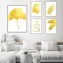 Постеры и принты в скандинавском стиле с изображением золотых