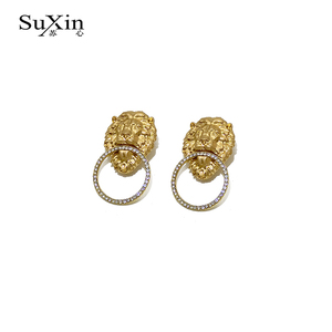 Suxin Vintage Crystal Star Female Swing Earrings For Women Asymmetrical Girl Stars with Women's Long Tassel Earrings(China)