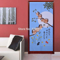 Taiwan Japan owl recruit blessing god good luck cloth curtain home act portiere hangings 100% Polyester Thicken Door Curtain