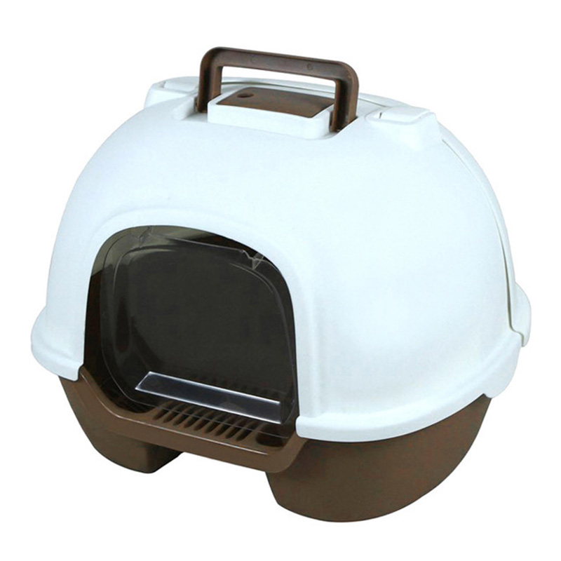 Portable cat litter box fully enclosed back flip Cat Toilet environmental protection splash proof and deodorizing pet sand basin(China)