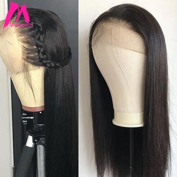Glueless Full Lace Human Hair Wigs with baby hair Straight Brazilian Pre Plucked Natural Short Wig Remy For Black Women 130%