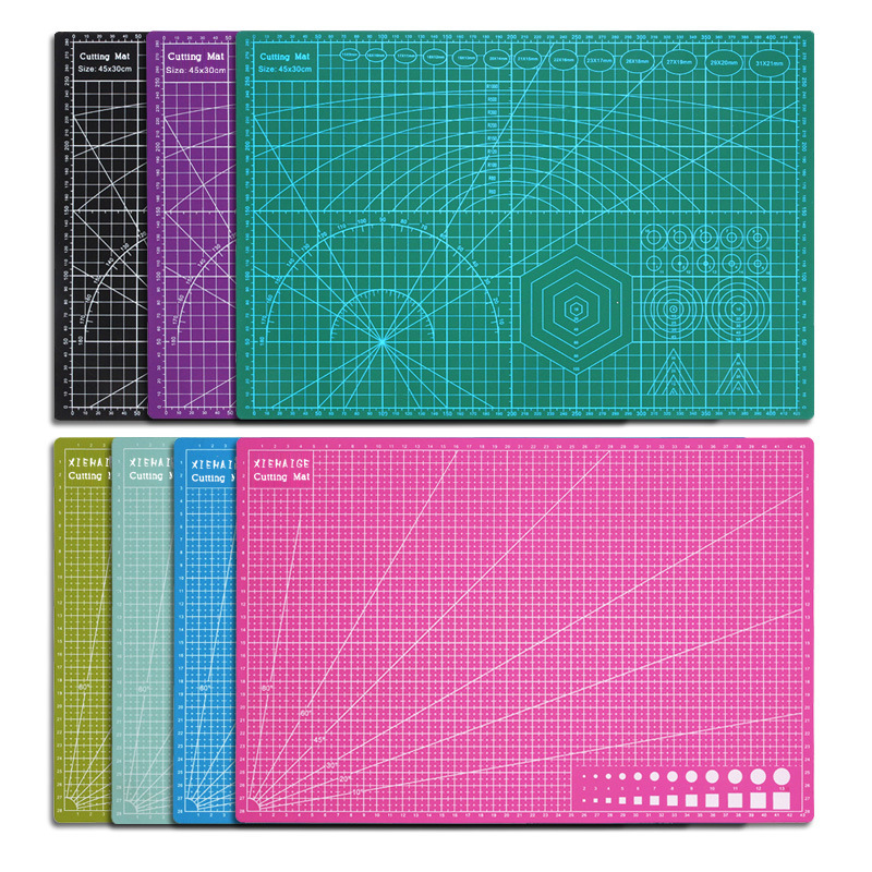 Double-sided A3 Cutting Pad Plate Scale Plate PVC Paper Cutting Pad Rubber Stamp Engraving Plate Office Supplies