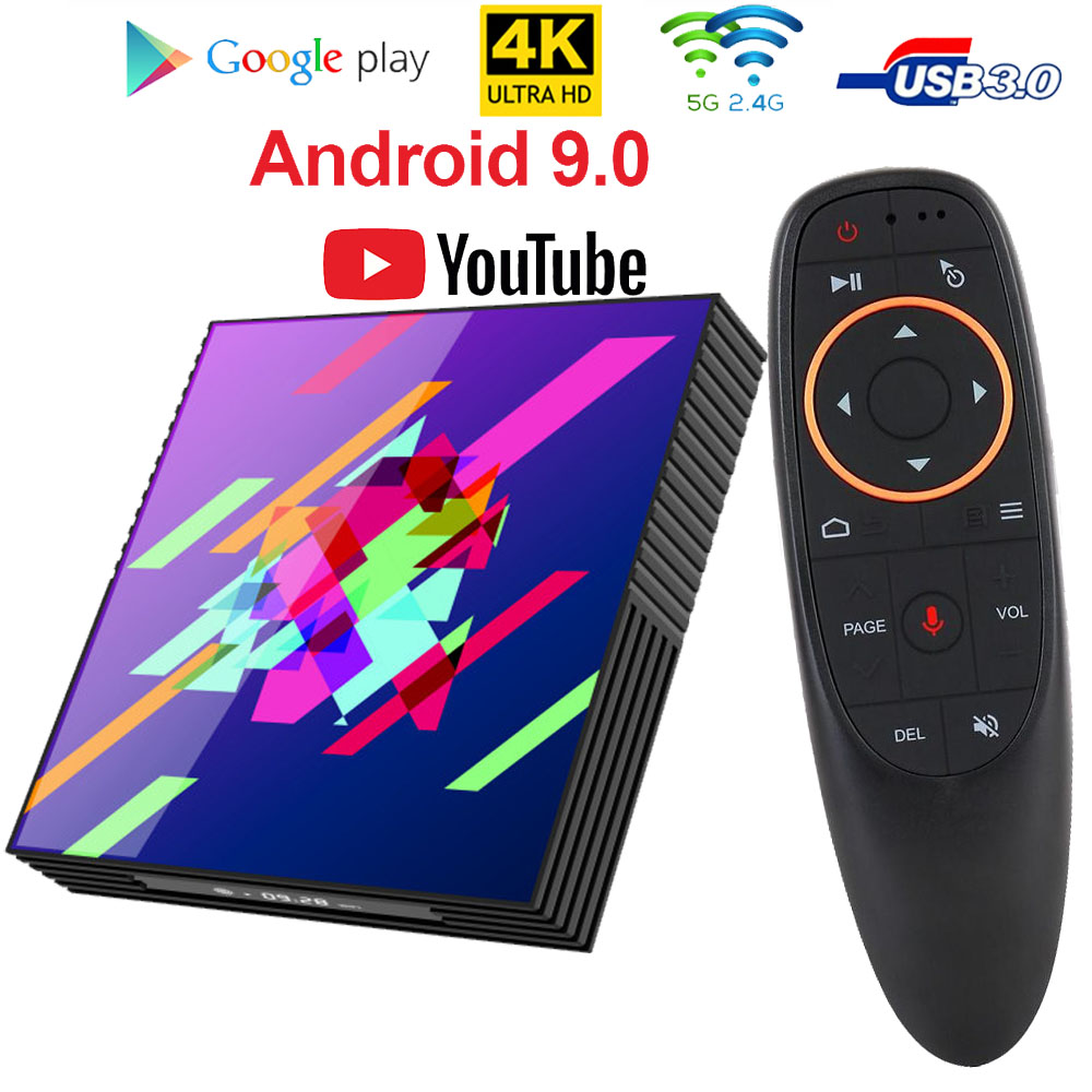 A95XZ2PLUS Smart Tv Box Android 9.0 TV Box 4GB RAM 64GB 32GB H.265 Media Player 4K Google Voice Assistant Netflix Youtube Tv Box