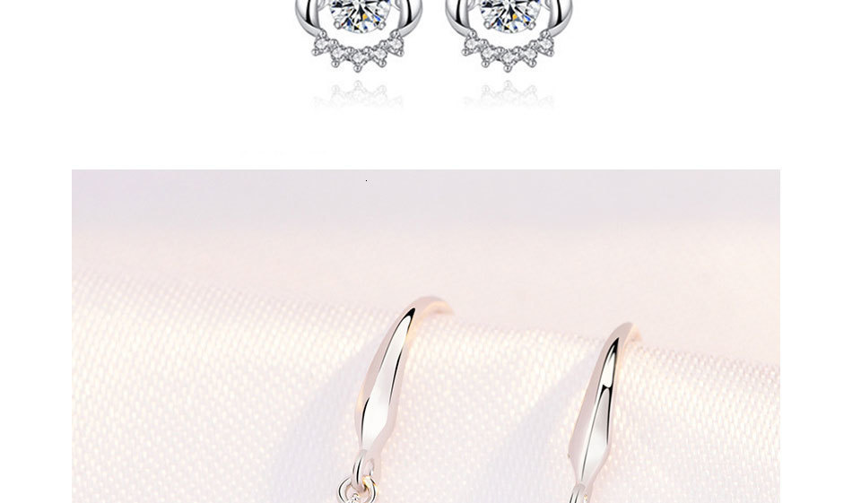 H95b78b3b0d8c49928e4f08f73042884ck - WEGARASTI Silver 925 Jewelry Zircon Drop Earrings For Women Real 100% Silver Earring Wholesale Party Wedding Gift Earring Silver