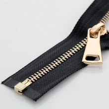 5# 60/70/80/90/100/120/150 cm metal zipper open-end auto lock rose gold for sewing clothing zippers