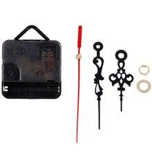 1 комплект бесшумные настенные часы Кварцевый игольчатый механизм черные и красные стрелки DIY запасная часть ремонтный набор инструментов часовой механизм