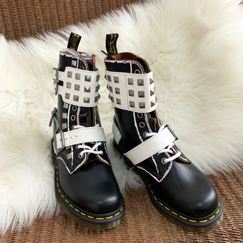 New Punk Rivet Studded Ankle Boots Women Fashion Design Round Toe Riding Motorcycle Boots Winter Womens Short Mujer Boots 2019