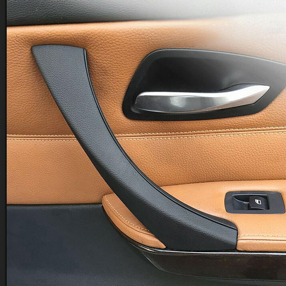 Right Side Black Inner Outer Door Panel Handle Pull Trim Cover For BMW E90 E91 3-Series Inside door handle + cover image