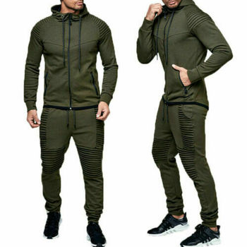Hirigin 2 pieces Autumn Running tracksuit men Sweatshirt Sports Set Gym Clothes Men Sport Suit Training Suit Sport Wear 2